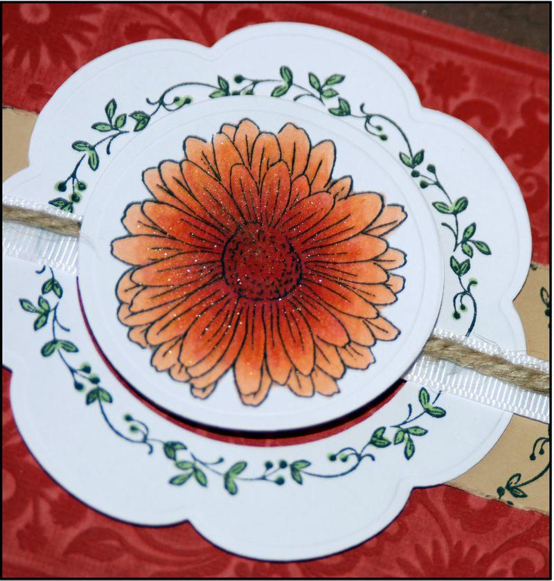 Center flower w glitter from cover w bwframe