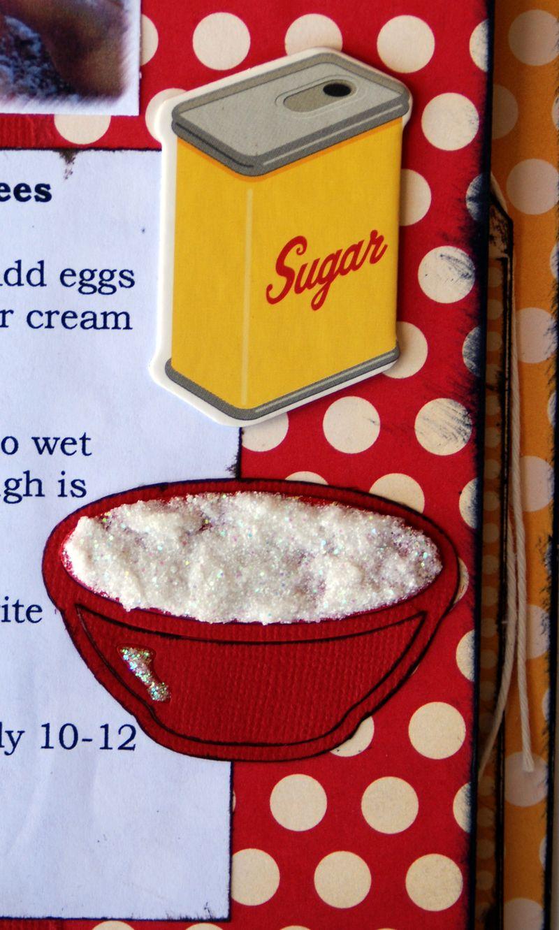 Sugar cookie dough close up