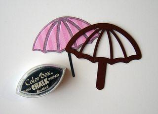 Umbrella reverse stenciling end result
