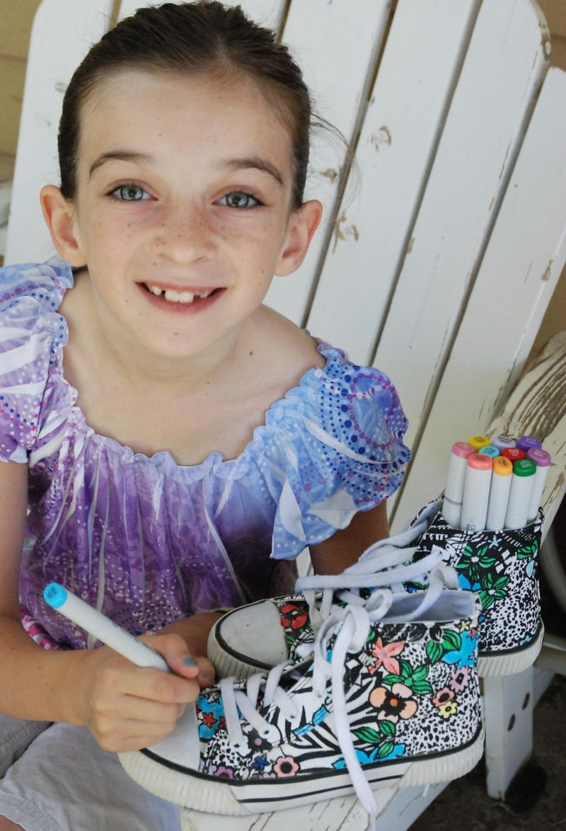 Arianna and copic shoes