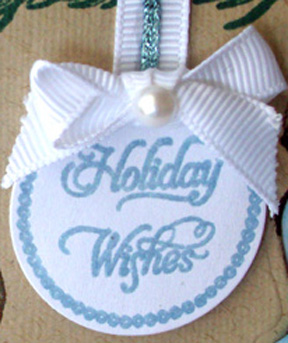 Close up holiday wishes