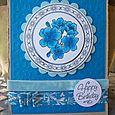 Blue happy birthday jr copic card