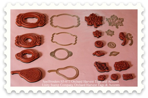 Harvest Card stamps and dies