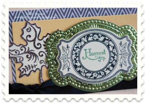 Harvest Card leaf and metal detail