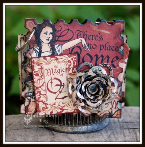 HS Halloween Mini Album Clock cover