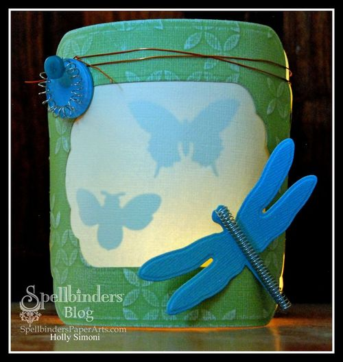 Dragonfly Paper Lantern glowing