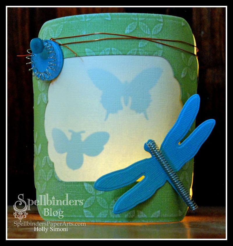 Dragonfly Paper Lantern glowing