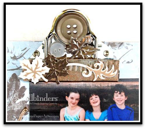 Fall mini clipboard clip closeup