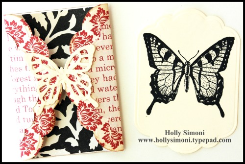 HS Gatefold Butterfly Card and tag 1