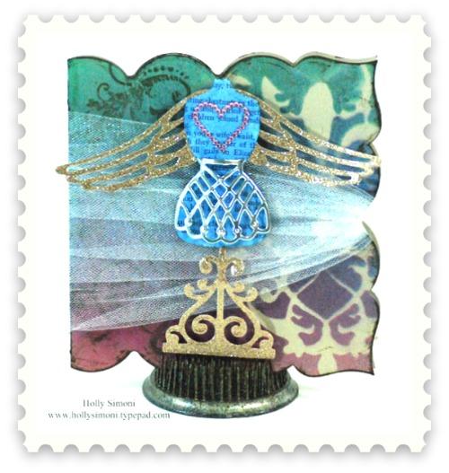 HS Angel dressform card