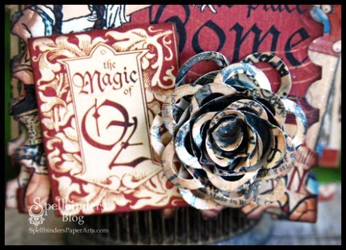HS Halloween Mini Album spiral blossom closeup