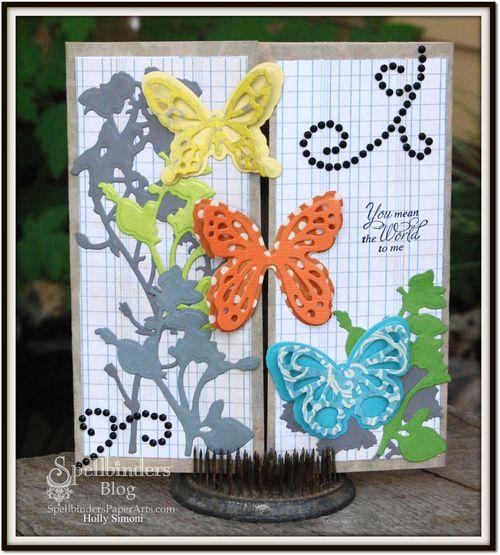 HS butterfly card want2scrap