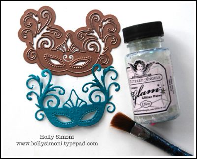 Mask die cut and glam