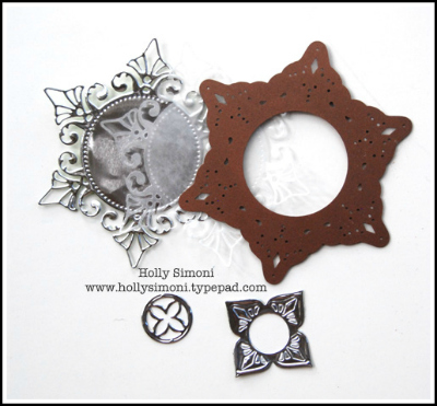 Metal die cuts wax