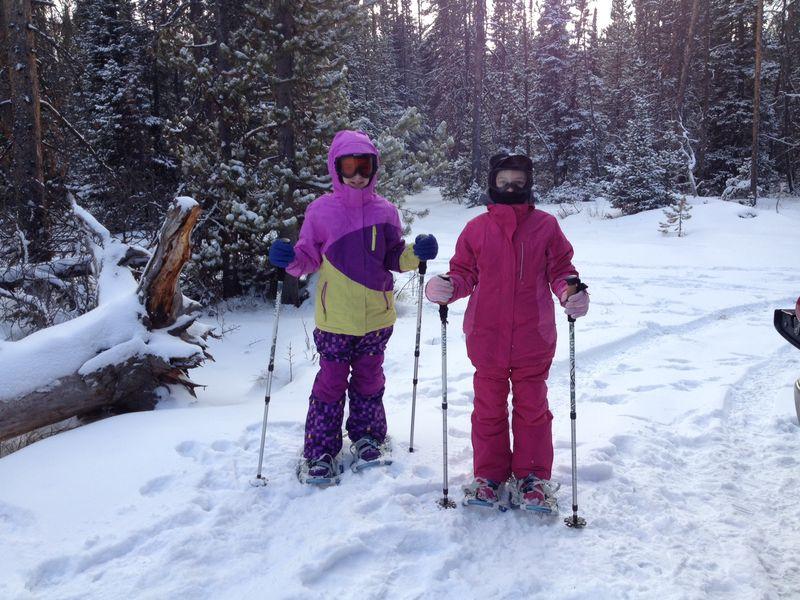 Zuzu snowshoeing 1
