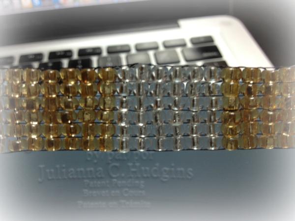 Jewel Loom bracelet build close up