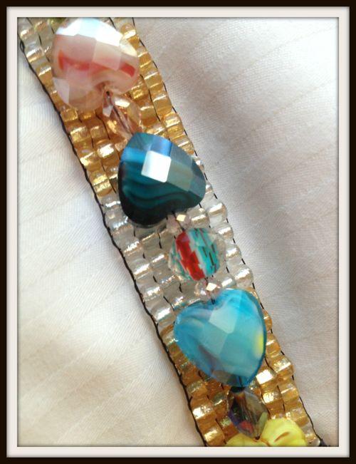Holly Simoni Jewel Loom bracelet close up of crystals1