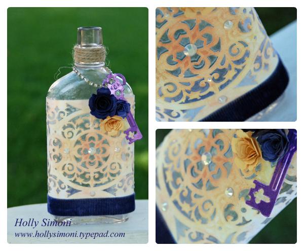 HS Vintage Bottle Tapestry Label Collage