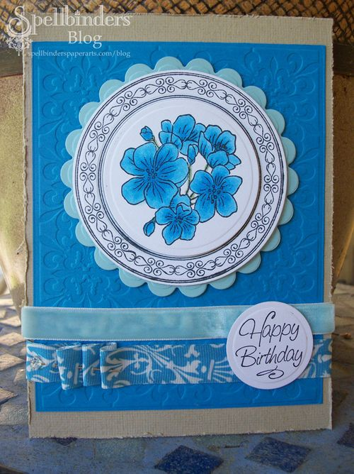 Blue happy birthday jr copic card