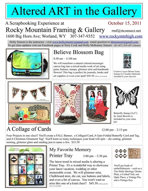 Altered Art in the Gallery Flyer Oct 2011